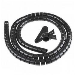 Guaina canalina raccogli copri mangia cavi fili copricavi spirale 1,5MT. NERO