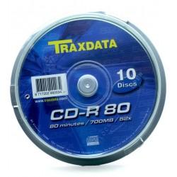 CD-R TRAXDAT 52x 700mb 80min. confezione da  10