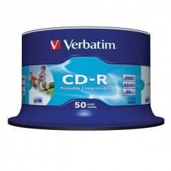 CD-R VERBATIM PRINTABLE 52x 700mb 80min. confezione da  50