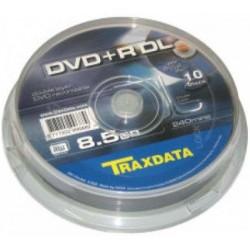 DVD+R DL TRAXDATA DUAL LAYER 8x 8.5GB 240MIN. confezione da 10