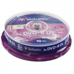 DVD+R DL VERBATIM  DUAL LAYER 8x 8.5GB 240MIN. confezione da 10