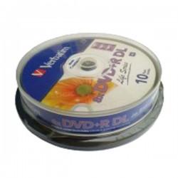 DVD+R DL VERBATIM  DUAL LAYER 8x 8.5GB 240MIN. PRINTABLE confezione da 10