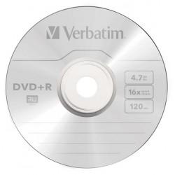 DVD+R VERBATIM 16x 4.7GB 120MIN. confezione da  25