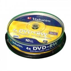 DVD+RW VERBATIM Riscrivibili 4x 4.7GB 120MIN. confezione da 10