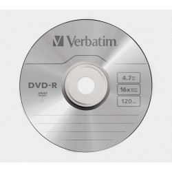 DVD-R VERBATIM 16x 4.7GB 120MIN. confezione da  25