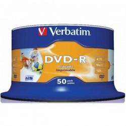 DVD-R VERBATIM PRINTABLE 16x 4.7GB 120MIN. confezione da  50