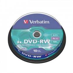 DVD-RW VERBATIM Riscrivibili 4x 4.7GB 120MIN. confezione da 10