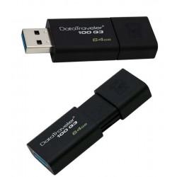 MEMORIA FLASH PEN DRIVE DATA TRAVELER USB 3.0 64GB KINGSTON DT100G3/64GB