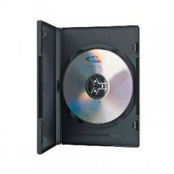 CUSTODIA PER DVD/BLU-RAY NERA SLIM 19x13x0,5 cm. CONFEZIONE  10 PZ