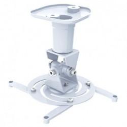 Supporto Universale da Soffitto per Proiettori fino a 10 kg, 4 bracci di supporto regolabili, Bianco