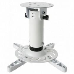 Supporto Universale da Soffitto per Proiettori fino a 15 kg, 4 bracci di supporto regolabili, Bianco