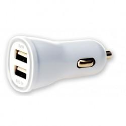 Carica batterie Alimentatore da Auto 2p USB 5V 1A&2.1A Bianco