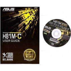 DRIVER CD + MANUALE x scheda madre main board ASUS H81M-C