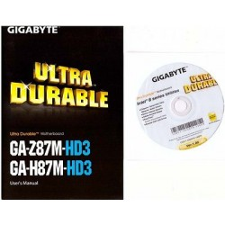 DRIVER CD + MANUALE x scheda madre main board Gigabyte GA-Z87M-HD3, GA-H87M-HD3