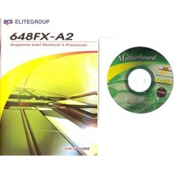 DRIVER CD + MANUALE x scheda madre main board ECS Elitegroup 648FX-A2