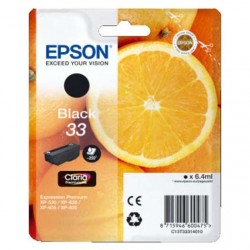 CARTUCCIA ORIGINALE EPSON T3331 NERO 33 Arancia C13T33314010  6,4 ml.