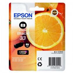 CARTUCCIA ORIGINALE EPSON T3341 NERO FOTO 33 Arancia C13T33414010  4,5 ml.