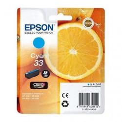 CARTUCCIA ORIGINALE EPSON T3342 CIANO 33 Arancia C13T33424010 4,5 ml.