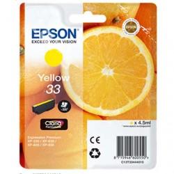 CARTUCCIA ORIGINALE EPSON T3344 GIALLO 33 Arancia C13T33444010 4,5 ml.
