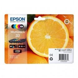 MULTIPACK ORIGINALE EPSON 33 serie Arancia 5 COLORI  C13T33374010