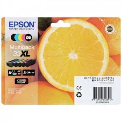 MULTIPACK ORIGINALE EPSON 33 XL serie Arancia 5 COLORI