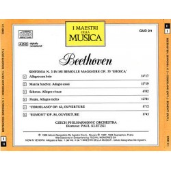 Beethoven - Sinfonia N.3 In Mi Bemolle Maggiore Op.55 'Eroica' - 'Coriolano' Op.62, Ouverture - 'Egmont'Op.84, Ouverture