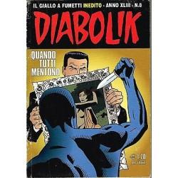 DIABOLIK (2004) Nr. 8 - Quando tutti mentono