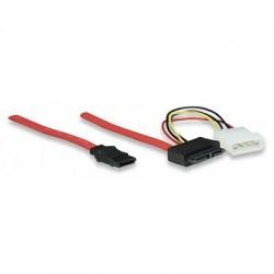 Cavo Slimline 7+6 Pin SATA Maschio /7 Pin SATA Maschio /4 Pin Molex 30 cm
