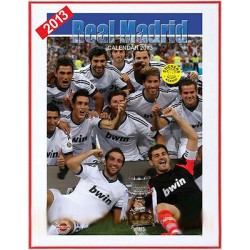 CALENDARIO 2013 REAL MADRID + 12 Adesivi