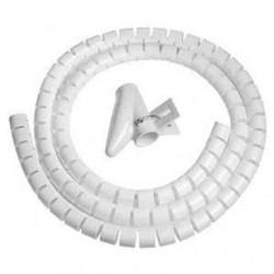 Guaina canalina raccogli copri mangia cavi fili copricavi spirale 1,5MT. bianca