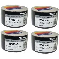 DVD-R TRAXDATA PRINTABLE 4.7GB 120MIN. confezione da 200