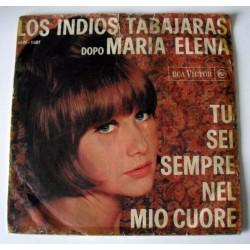 45 giri LOS INDIOS TABAJARAS-Tu sei sempre nel mio cuore / Moonlight and Shadows  (ITA 1964 RCA VICTOR 45N-1407)