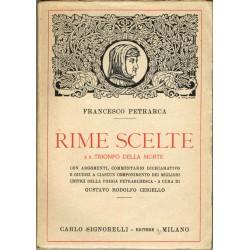 Francesco Petrarca, Rime scelte e Il trionfo della morte, a cura di Gustavo Rodolfo Ceriello (1924) ed. Signorelli