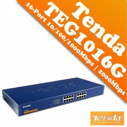 Switch 16 porte Gigabit 10/100/1000MBPS 11  TENDA TEG1016D