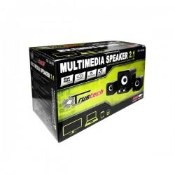 Sistema Speaker Stereo 2.1 con Subwoofer, compatto, alimentazione USB