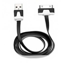 CAVO FLAT USB per iPhone 4/4S, iPod, iPod Nano e iPad 2/3, lungh. 1 mt.