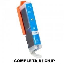 CARTUCCIA COMPATIBILE CANON CLI-551C XL CIANO