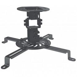 Supporto Universale da Soffitto regolabile per proiettori fino a 13.5 kg di differenti misure, Nero