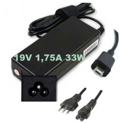Alimentatore caricabatteria x NOTEBOOK ASUS 19V 1,75A 33W spinotto Micro tips + CAVO