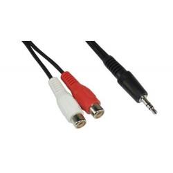 Cavo Audio Stereo Jack 3,5 mm a 2 x RCA femmina  5 mt metri