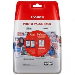 CARTUCCIA ORIGINALE CANON Value Pack 545XL+546XL+50 fg. Carta Photo 10x15