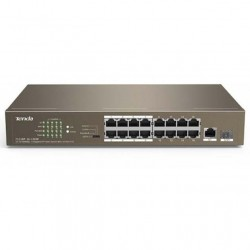Switch PoE 16-Port + 1 GE+1 SFP Unmanaged Tenda TEF1118P