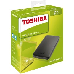 Hard Disk Esterno  TOSHIBA USB 3.0 2TB 2.5'' CANVIO BASIC  - Retail - NERO