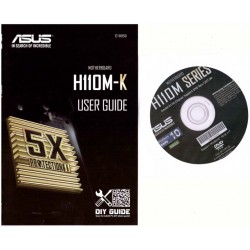 DRIVER DVD + MANUALE x scheda madre main board ASUS H110M-K