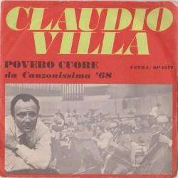 45 giri Claudio Villa - Povero cuore / Preludio per un addio (ITA CETRA SP 1371)