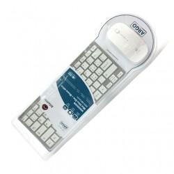 Kit Ultraslim Tastiera Colore Argento con tasti bianchi + Mouse ottico bianco