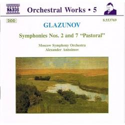 """Glazunov: Moscow Symphony Orchestra, Alexander Anissimov - Symphonies Nos. 2 And 7 """"Pastoral"""""""