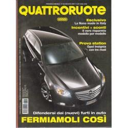 Quattroruote 643-2009 Opel Insigna-Suzuki Alto 1.0 GLX-Fiat Grande Punto 1.4 Active Gpl