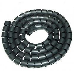 Guaina raccogli copri mangia cavi fili copricavi spirale Ø 2,5cm. 1 metro Nero