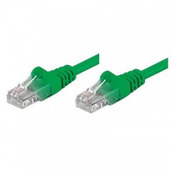 Cavo rete Ethernet Patch UTP Cat.5E  1 metro Verde